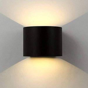 Applique Mural interieur Exterieur Led,lampe murale Moderne étanche IP65 Réglable Lampe Up and Down Design Pour Couloir, Escalier, Salle d'exposition,Salon (7W Noire) de la marque Exwand image 0 produit