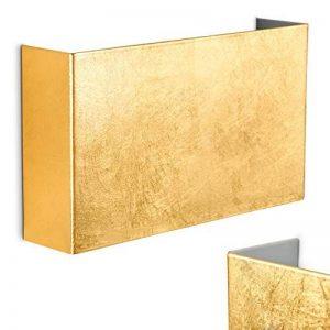 Applique murale Crotone en métal de couleur doré - Luminaire pour salon - salle à manger - cuisine - chambre à coucher - Interrupteur marche / arrêt situé en dessous de la suspension de la marque hofstein image 0 produit