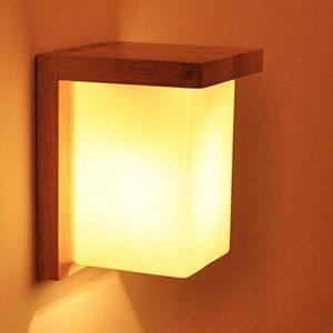 Applique Murale Décorative en Bois Massif Lampe Murale Moderne pour Chevet Salon Escalier Couloir-- Série Minimalisme II de la marque Luniquz image 0 produit