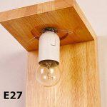 Applique Murale Décorative en Bois Massif Lampe Murale Moderne pour Chevet Salon Escalier Couloir-- Série Minimalisme II de la marque Luniquz image 3 produit