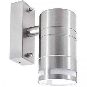 Applique murale extérieur étanche en acier inoxydable avec IP44Protection Pluie 1ampoule en tant que Downlight pour ampoule LED ou halogène GU10 de la marque SSC-LUXon image 0 produit
