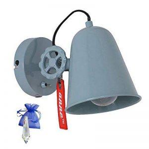 Applique murale industriel Bleu gris E27Vintage Industriel Lampe de lecture, lampe murale pour ampoule LED et 230V au look rétro Leuchten usine Lampe d'atelier + cadeau de la marque Anne Lighting image 0 produit