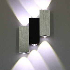 Applique Murale Intérieure Triple LED 6W Lampe Moderne pour Salon Chambre Cuisine 3 Cube, Blanc Froid de la marque Asvert image 0 produit