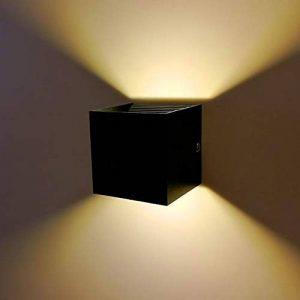 Applique murale à LED 12 W avec angle d'éclairage large et angle d'éclairage LED AC 90-240 V Blanc chaud de la marque QUASHION image 0 produit