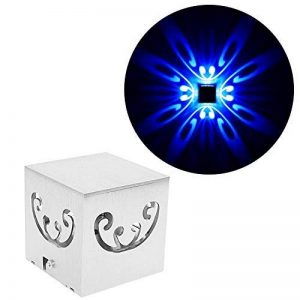Applique Murale LED 3W Design Original 4 papillons - Bleu de la marque uksunvi image 0 produit