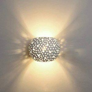 Applique Murale LED 5W Plâtre Lampe Design Moderne Vers le haut et vers le bas Luminaires Muraux Intérieurs Boule ronde Forme Blanc Chaud (Inclus Ampoules G9) de la marque ChangM image 0 produit