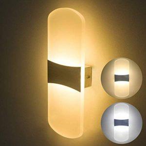 Applique Murale LED 6W Lampe Moderne Design Up and Down Luminaires Muraux Intérieurs Dimmable par le commutateur de mur Lampe Murale Acrylique Night Light 3 Température de Couleur en 1 (Blanc chaud, Blanc doux ou Blanc froid) de la marque ChangM image 0 produit