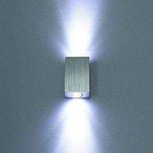 Applique Murale LED 6W Mini Style Lampe Murale éclairage Décoratif Intérieur Lumière Moderne en Aluminium Pour Chambre Escalier Salon Bureau Porche Boutique (style2, Blanc Froid) de la marque Unimall image 0 produit