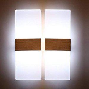 Applique Murale LED Lampe Murale Luminaire Intérieur Aluminium Moderne Eclairage Décoratif Pour Chambre Couloir Salon Hôtel Restaurant Cuisine Boutique Salle à Manger Boutique (12w-Blanc Froid) de la marque Unimall image 0 produit