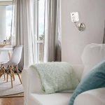 Applique Murale Moderne en Métal couleur Chrome avec Abat-jour en Verre Opale avec Dessins Géometriques pour Salon ou Cuisine 1x60W E14 de la marque Demarkt image 1 produit
