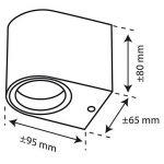 Applique murale Smartwares 5000.466 Kimi – LED – Acier inoxydable de la marque RANEX image 1 produit