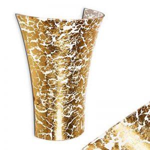 Applique Terni en verre doré - spot mural Up & Down en forme d'entonnoir pour salon, chambre à coucher, couloir - projecteur mural E27 60 Watt - avec effet de lumineux de la marque hofstein image 0 produit
