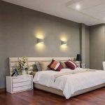 Appliques Murales Interieur, Blanc Lampe Murale LED 7W Blanc Chaud Moderne Applique Murale en Plâtre pour Chambre Maison Couloir Salon (G9 LED ampoule Inclure) de la marque HYDONG image 4 produit