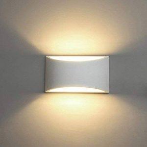 Appliques Murales Interieur, Blanc Lampe Murale LED 7W Blanc Chaud Moderne Applique Murale en Plâtre pour Chambre Maison Couloir Salon (G9 LED ampoule Inclure) de la marque HYDONG image 0 produit