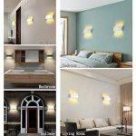 Appliques Murales Interieur LED Lampe 8w étanche Moderne Applique Murale en Aluminium Blanc pour Chambre Maison Couloir Salon (Blanc Chaud) de la marque NetBoat image 2 produit