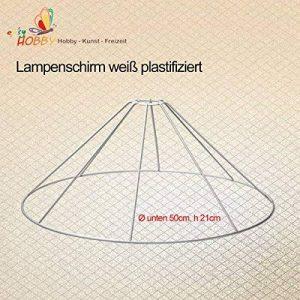 Armature abat-jour, blanc plastifiziert, Ø bas 50cm, H 21cm de la marque SMITS image 0 produit