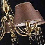 Art de Deco et les lustres de style laiton métal couleur, décoré avec chaînes, écrans Marron plastique, cristal transparent, excl. 5x E1460W 220V de la marque MAYTONI DECORATIVE LIGHTING image 3 produit