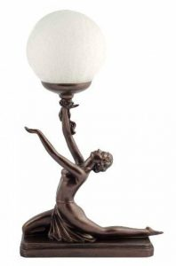 Art Deco Bronze Lighting Nora Kneeling Lamp Figure by Julianna de la marque Julianna image 0 produit