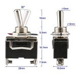 ARTGEAR Interrupteur à Bascule AC125V 10A / AC250V 6A, SPST Métal Interrupteur à Levier, ON/OFF 2 Positions 2 Broches, pour Voiture Tableau de Bord Lumière (Pack de 6, Noir) de la marque ARTGEAR image 1 produit