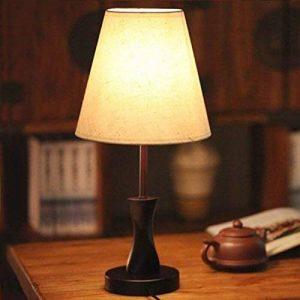ASL Simple moderne Bois Creative Fashion Lampe de chevet Lampe de table Chambre chevet mariage Salon Décoration Lampe de table Nouveau ( Couleur : Beige ) de la marque Table lamp.A image 0 produit