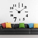 Asvert Grande Horloge Murale 3D DIY Design Moderne Décorations Numérique en Acrylique pour Salon (Noir-1) de la marque Asvert image 1 produit