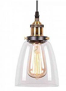 Asvert LED Suspension Industrielle en Forme Bol Lumière Vintage Lustre Rétro Eclairage de Plafond pour loft, couloir, allée entrepôt bureau chambre à coucher magasin café bar(sans ampoule) de la marque Asvert image 0 produit