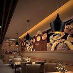 Asvert Suspension Industrielle Lampe Industrielle Pendante Lumière Vintage en Métal Eclairage de Plafond Lustre Rétro avec Abat-Jour E27 pour Loft Bar Salle à Manger Cuisine, Noir de la marque Asvert image 2 produit