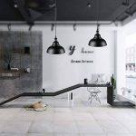 Asvert Suspension Luminaire Industrielle Lampe Suspendue Rétro Eclairage Vintage Lampe Pendante Plafonnier en Forme de Cloche en Métal Éclairage Intérieur pour Chambre Cuisine Bar Loft Restaurent, Noir de la marque Asvert image 2 produit