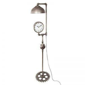 Atmosphera - 2 en 1 Grand Lampadaire et horloge - style industriel - Hauteur 188 cm - Couleur étain de la marque Atmosphera image 0 produit
