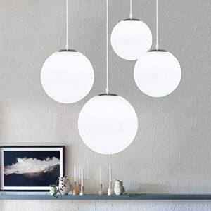 AUA Lustre boule en verre, Lampe suspension, Lampe intérieur simple pour Chambre Salon Couloir Restaurant Café 1pcs (25CM) de la marque AUA image 0 produit