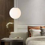 AUA Lustre boule en verre, Lampe suspension, Lampe intérieur simple pour Chambre Salon Couloir Restaurant Café 1pcs (25CM) de la marque AUA image 4 produit