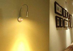AUA Spots muraux LED Lampe en aluminium 3W Lampe de lecture Lampe flexible de la marque AUA image 0 produit