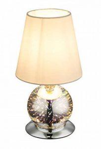 auffällige Lampe de table avec effet 3D, abat-jour en tissu noir/pied chromé, GLOBO Lighting de la marque Globo image 0 produit