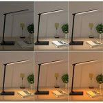 AUKEY Lampe de Bureau Pliable, Lumière de Table LED 12W avec USB,Contrôle Tactile, Mini Veilleuse et Minuteur, 5 Modes et 7 Niveaux de Luminosités, Confortable pour vos yeux (LT-T10, Noire) de la marque AUKEY image 3 produit