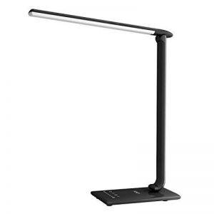 AUKEY Lampe de Bureau Pliable, Lumière de Table LED 12W avec USB,Contrôle Tactile, Mini Veilleuse et Minuteur, 5 Modes et 7 Niveaux de Luminosités, Confortable pour vos yeux (LT-T10, Noire) de la marque AUKEY image 0 produit