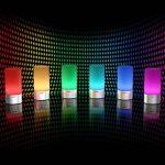 AUKEY Lampe de Chevet LED avec Contrôle Tactile à 360°, Lampe de Table avec 3 Niveaux de Lumière Blanche Réglable et Changement de 256 Couleurs RGB de la marque Aukey image 2 produit