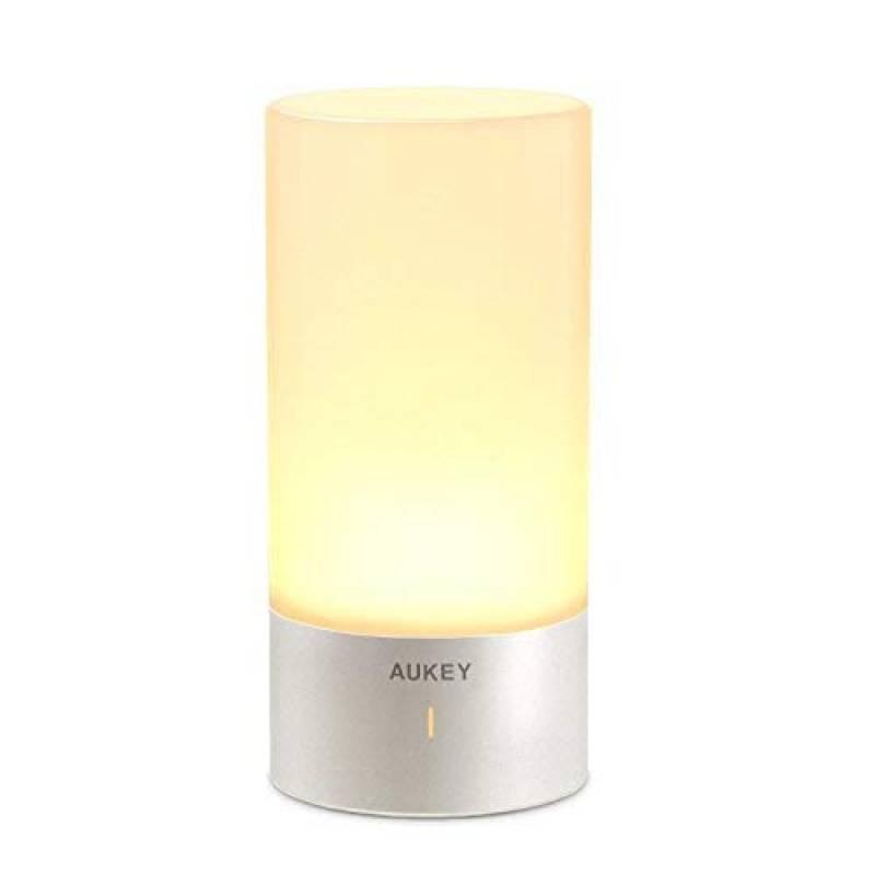 Aukey Lampe De Chevet Tactile Avec Lumière Blanche Chaude Et