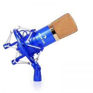 Auna MIC-900B–Microphone à condensateur USB pour utilisation en studio avec suspension, capsule de 16mm, 320Hz–18kHz XLR - Bleu/or de la marque Auna image 0 produit
