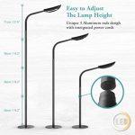 Avantica Lampe Sur Pied LED avec Variateur- 13W, 71inch, 5 températures de couleur (3000K-6000K) et 5 niveaux de luminosité,1600 lumens,Contrôle tactile, Lampadaire de sol pour Salon,Chambre,bureau de la marque Avantica image 4 produit
