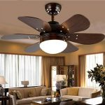 AWCP Lumière - Bois créatif, Salon Salle à Manger Chambre à Coucher E27 Ventilateur de Plafond pour Lampe de Plafond à Distance. de la marque AWCP image 4 produit