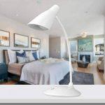 Aznoi - Lampe de Table LED tactile et ajustable/Lampe de Chevet protection des yeux/Lampe de bureau rechargeable avec câble de Micro USB Charge pour enfants, lire, étudier etc - Blanc de la marque AZNOI image 1 produit