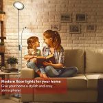 B.K. Licht lampadaire LED avec liseuse fexible, dimmable, lampe salon salle à manger, luminaire design métal/verre, 230V, IP20, 21W, hauteur 1800 mm de la marque B.K.Licht image 3 produit
