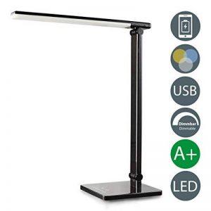 B.K. Licht lampe bureau chevet LED, dimmable, port USB, platine LED 230V, 5W, IP20, luminaire lecture, fonction TOUCH, 7 niveaux de luminosité de la marque B.K.Licht image 0 produit