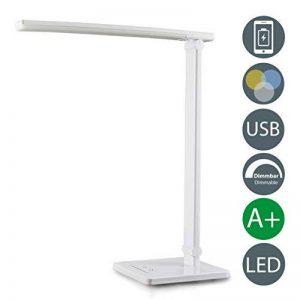 B.K. Licht lampe de bureau LED, 5W, lampe de table lampe de chevet dimmable, port USB, lumière de lecture, fonction TOUCH, 7 niveaux de luminosité, liseuse, 230V, IP20 de la marque B.K.Licht image 0 produit