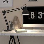 B.K. Licht lampe de bureau rétro, lampe de table LED, lampe bureau métal avec articulation, lampe de lecture, éclairage LED halogène, E14, 230V, IP20 de la marque B.K.Licht image 4 produit