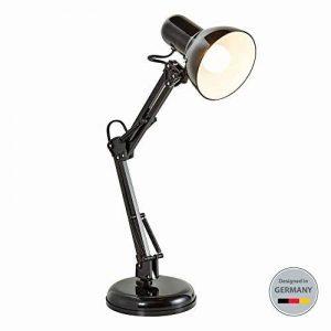 B.K. Licht lampe de bureau rétro, lampe de table LED, lampe bureau métal avec articulation, lampe de lecture, éclairage LED halogène, E14, 230V, IP20 de la marque B.K.Licht image 0 produit