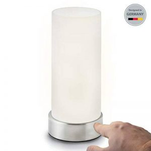 B.K. Licht lampe de chevet avec 3 Niveaux de Lumière   lampe de table avec fonction Touch   lumière de lecture   luminaire chambre enfant   3 niveaux de luminosité   E14   230V   IP20 de la marque B.K.Licht image 0 produit