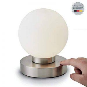 B.K. Licht lampe de chevet tactile 3 intensités, lampe de table avec fonction Touch, lumière de lecture, éclairage chambre, chambre enfant bébé, 3 niveaux de luminosité, E14, 230V, IP20, 25W de la marque B.K.Licht image 0 produit