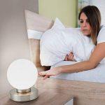 B.K. Licht lampe de chevet tactile 3 intensités, lampe de table avec fonction Touch, lumière de lecture, éclairage chambre, chambre enfant bébé, 3 niveaux de luminosité, E14, 230V, IP20, 25W de la marque B.K.Licht image 2 produit