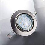 B.K. Licht lot de 10 spots LED encastrables ultra-plats, 10x3W, 250lm, orientables, 230V, classe énergétique A+, profondeur d'encastrement 30mm de la marque B.K.Licht image 3 produit